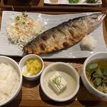 とろさば料理専門店 SABAR - とろさばの塩焼き定食 @1000