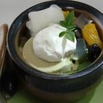 マ・メール アンジュ - ヘルシーあんみつ(420円) 抹茶あんみつの下は胡麻ムース