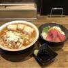 喜多方食堂 麺や 玄 - 料理写真:蔵出し醤油らーめん(あっさり) 切り落としチャーシュー 半本鮪丼