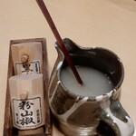 篠山花格子 - 蕎麦湯