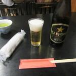 うなぎ赤垣 - ビール
