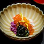 銀座ふじやま - 毛蟹 筋子 岩茸 もって菊