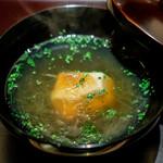 銀座ふじやま - すっぽんのスープ フカヒレと胡麻豆腐