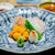 銀座ふじやま - お造り 長崎のクエ 浜中の雲丹