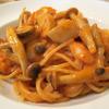 アル・パッソ - 料理写真:エビとキノコのトマトクリームスパゲッティ