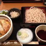 横浜更科 一休 - ランチセット(もり、ミニカツ丼)