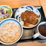 ねぎし - スパイシーセット(A.豚旨辛焼)(1,000円)