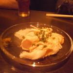 13918927 - 鶏のたたき 柚子胡椒との相性が抜群です。