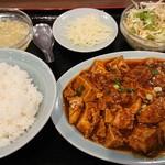 順香 - 麻婆豆腐定食(¥750)。 そこそこ辛味がありました。