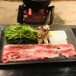 139182958 - 近江牛熟成バラと野菜のしゃぶしゃぶ