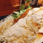 宮崎料理 万作 - まるでわらじとんかつ