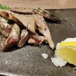 明神丸 -  鰹のハランボ藁焼き ¥680