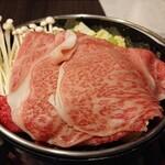 食房 杵 - キャンペーンのすき焼きセット ¥3,300