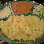 タンドーリ キッチン マラティ - チキンカレー(マイルド)のセットとライス