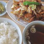 との様飯店 - 本日の定食(ホイコーロー)¥950@'12.7.中旬