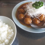との様飯店 - 肉だんごの甘酢¥1500+ライス¥250@'12.7.中旬