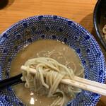 自家製麺 TANGO - 和え玉をつけ汁に…旨いね❣️