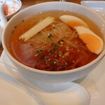 敷島 - セットのハーフ冷麺