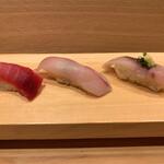 築地玉寿司 - 中トロ・カンパチ・アジ