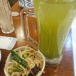 酒月 - 緑茶ハイとお通し