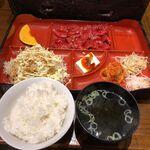 焼肉家族 - ロース定食 税込930円