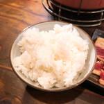 焼肉酒場 すみびや - ランチセット ご飯(並盛り)