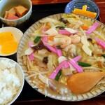 Saikaitei - 皿うどんランチセットの麺がチャンポン