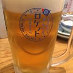酒場劇場 せんべろロケット 駅東製作所 - せんべろロケット ( ´θ`) 生ビール