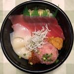 魚丼 - 漁師丼(税別537円)
