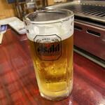 焼肉の浩養園 - 生ビールです