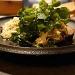 139259697 - 牛タンの炙り クレソンと卵ドレッシング