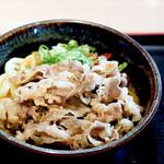 さぬき麺市場 - 肉カレーうどん(カレーうどん+肉皿盛)