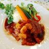 Satoyamakafetasaburousansou - 料理写真:白ゆりポークのガーリックソテー 季節の野菜添え