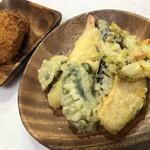ここら亭 - 料理写真:天ぷら&コロッケ
