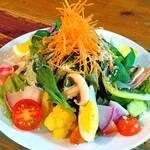 海鮮ワイン酒場 IBIZA - 大好評の特製ドレッシングと一緒に!季節のサラダ