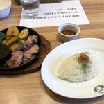 洋食バル 函館五島軒 - ラムステーキ/ソースとな相性がとても良く…