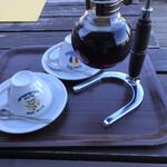 コロボックルヒュッテ - サイフォンでコーヒー