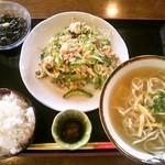 ゆたか食堂 - Bそばセット(ゴーヤー)・850円