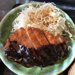 半二郎 - ランチの味噌カツ
