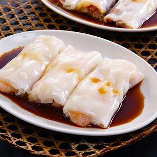 香港飲茶で人気の米粉クレープ「腸粉」は3種類の味わい◎