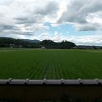 田園喫茶 Wild berry - カップル席からの風景。午後は西日が強烈ですがマッタリできます。