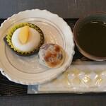 Kinchouensouhonke - 焼き金蝶園饅頭・クリーム栗きんとん大福