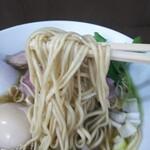 中華そば うお青 - 麺リフトアップ