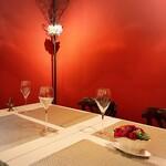 trentotto - 半個室のテーブルセット