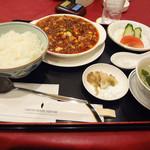 Chuugokuryouritouen - 四川風麻婆豆腐定食(1000円)