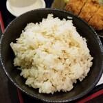 とんかつ さんか - おぼろづきで炊いた生姜ご飯
