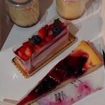 メゾン ド フルージュ - ①苺プリン(¥350)②苺チーズケーキ(¥630) ③苺とルバーブのフロマージュタルト(¥650)