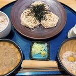 九十九 - じねんじょとろろ蕎麦御膳(冷) 1800円