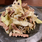 焼肉ホルモン 新井屋 - ハツの塩コブ和え