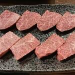 焼肉ホルモン 新井屋 - 特選厚切りハラミ 特選厚切りサガリ